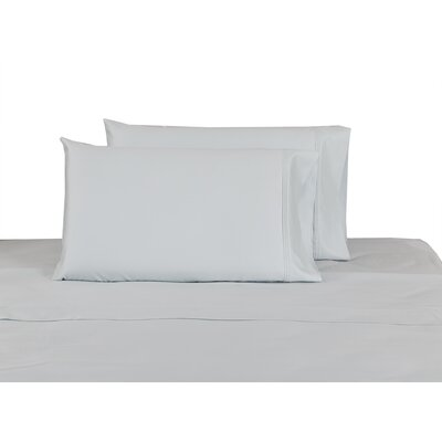 100% Cotton Sateen Pillow Case Color: Spa Blue, Size: King