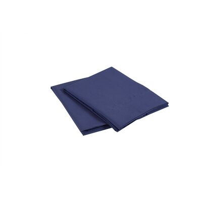Luxury Microfiber Pillowcase Color: Navy, Size: King