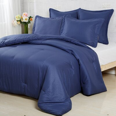 Luxury Embossed Polyester Sham Size: Standard/Queen