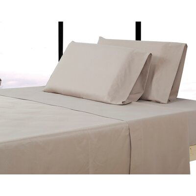 Alysia Collection  Microfiber Pillowcase Color: Tan, Size: Queen