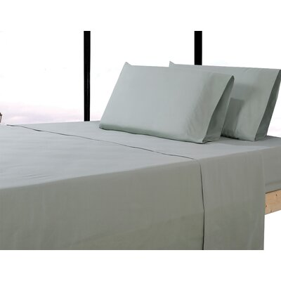 Alysia Collection  Microfiber Pillowcase Color: Light Sage, Size: King