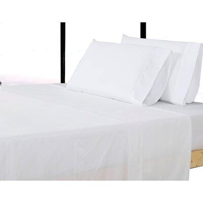 Alysia Collection  Microfiber Pillowcase Color: White, Size: Queen