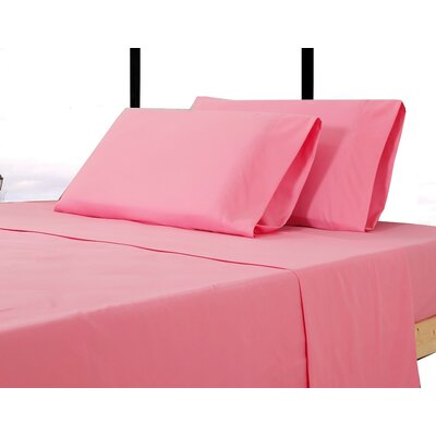 Alysia Collection  Microfiber Pillowcase Color: Pink, Size: King