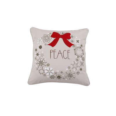 Peace Wreath Holiday Pillow Protector