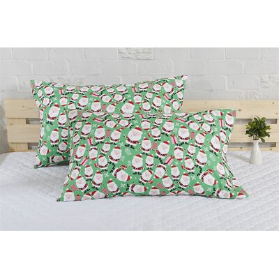 Santa Holiday Pillow Case
