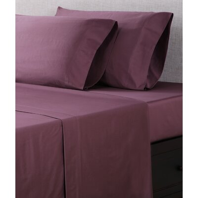 300 Thread Count Cotton Sateen Sheet Set Color: Plum, Size: King