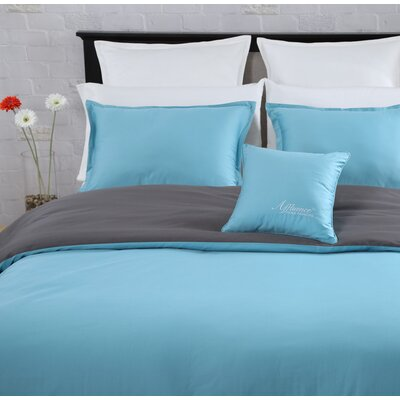 3 Piece Duvet Set Color: Turquoise, Size: King