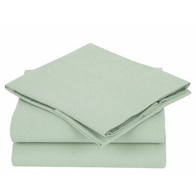 Combed Cotton Luxury Flannel Sheet Set Size: Full, Color: Sage Green