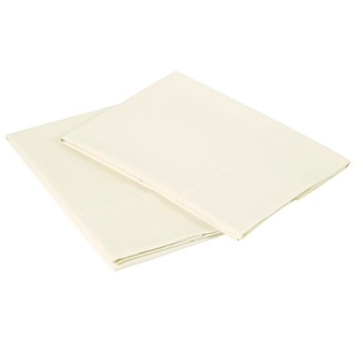 300 Thread Count Pillowcase Size: Queen, Color: Ivory