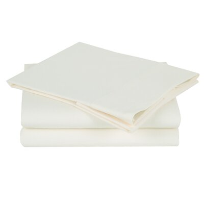 Combed Cotton Luxury Flannel Sheet Set Color: White / Cream, Size: Twin