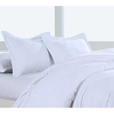 Luxury Embossed Polyester Sham Color: Stark White, Size: King
