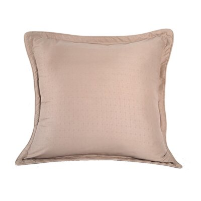 Luxury Embossed Microfiber Euro Sham Color: Desert Grain