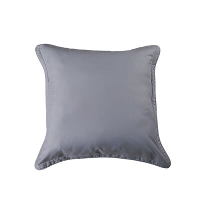 Luxury Embossed Microfiber Euro Sham Color: Silver Gray