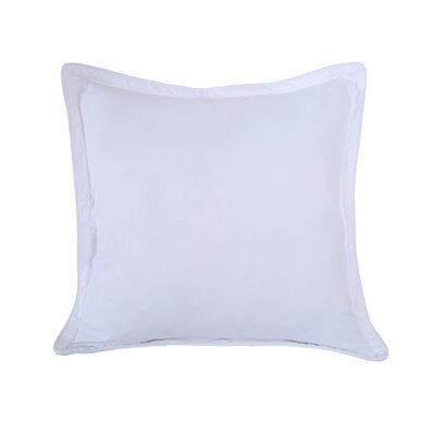 Luxury Embossed Microfiber Euro Sham Color: Stark White