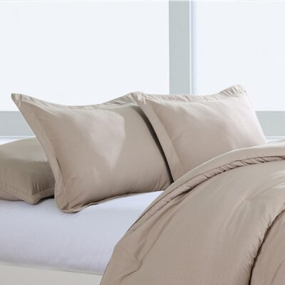 Luxury Embossed Polyester Sham Size: Standard/Queen, Color: Desert Grain