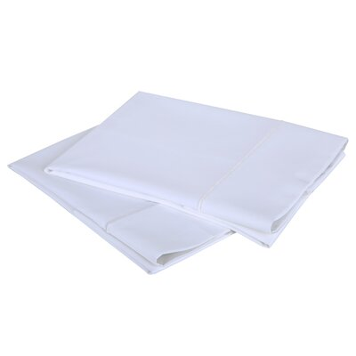 1000 Thread Count Luxury Cotton Sateen Pillowcase Set Color: Bright White, Size: Standard / Queen