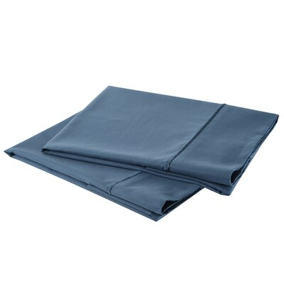 1000 Thread Count Luxury Cotton Sateen Pillowcase Set Size: King, Color: Millennial Blue