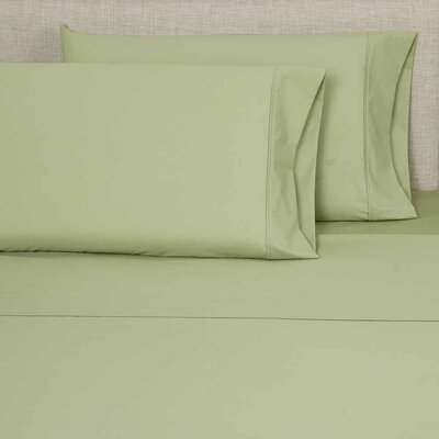 300 Thread Count Pillowcase Color: Sage, Size: King