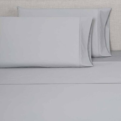 300 Thread Count Pillowcase Color: Light Gray, Size: King