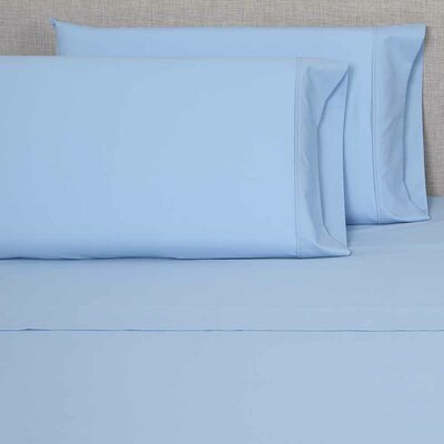 300 Thread Count Pillowcase Size: Queen, Color: Light Blue