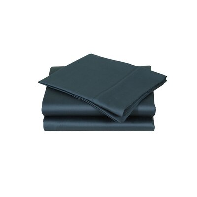 600 Thread Count Premium Cotton Sateen Pillowcase Set Color: Deep Teal, Size: King