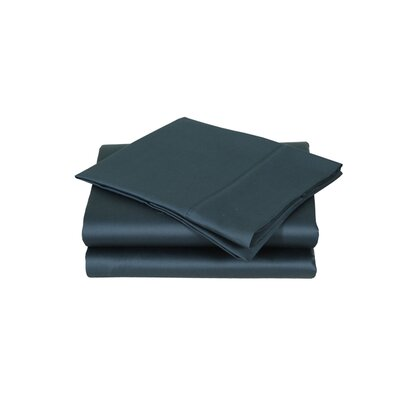 600 Thread Count Premium Cotton Sateen Sheet Set Size: California King, Color: Deep Teal