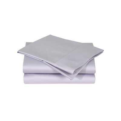 600 Thread Count Premium Cotton Sateen Sheet Set Size: California King, Color: Thistle
