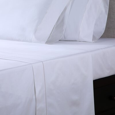 600 Thread Count Premium Cotton Sateen Sheet Set Size: Split King, Color: White