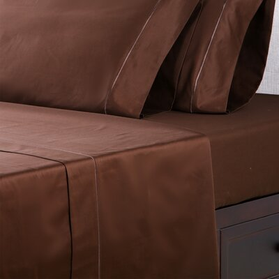 1000 Thread Count Cotton Sateen Sheet Set Color: Sable, Size: Queen