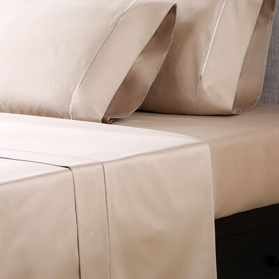 1000 Thread Count Cotton Sateen Sheet Set Color: Linen, Size: Queen