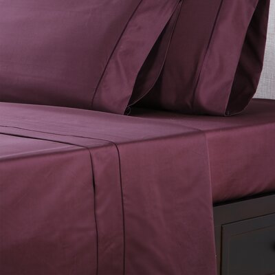 1000 Thread Count Cotton Sateen Sheet Set Color: Plum, Size: Full