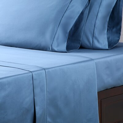 1000 Thread Count Cotton Sateen Sheet Set Color: Millennial Blue, Size: Full