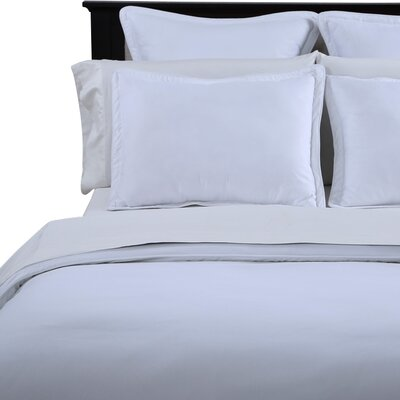 3 Piece Duvet Cover Set Size: Full / Queen, Color: Stark White