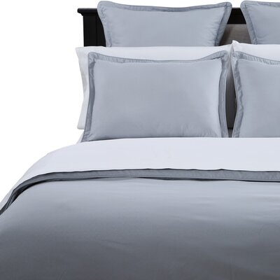 3 Piece Duvet Cover Set Color: Silver Gray, Size: King
