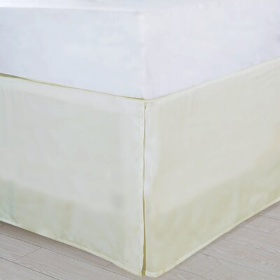 Bed Skirt Size: Twin, Color: Ivory