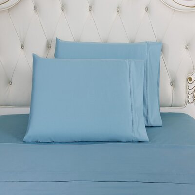 Lindstrom 100% Cotton Pillowcase Size: King, Color: Blue