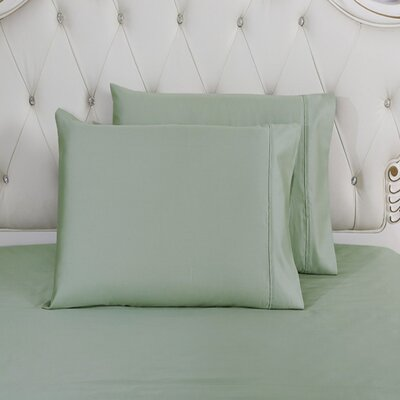 Lindstrom 100% Cotton Pillowcase Size: King, Color: Green