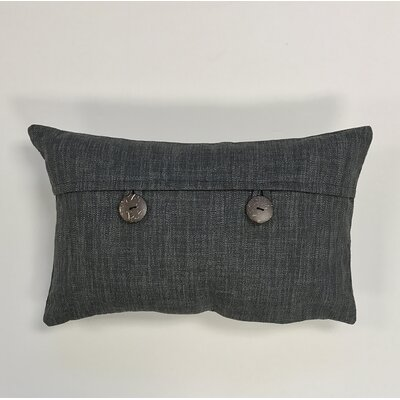 Pineda Button Woven Decorative Pillow Cover Color: Grey
