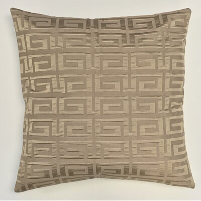 Roles Crystal Woven Decorative Pillow Cover Color: Brown