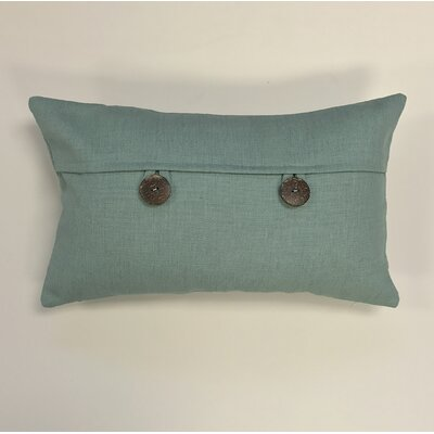 Pineda Button Woven Decorative Pillow Cover Color: Sea Breeze