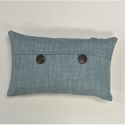 Pineda Button Woven Decorative Pillow Cover Color: Steel Blue