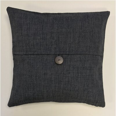 Pineda Button Woven Decorative Pillow Cover Color: Midnight