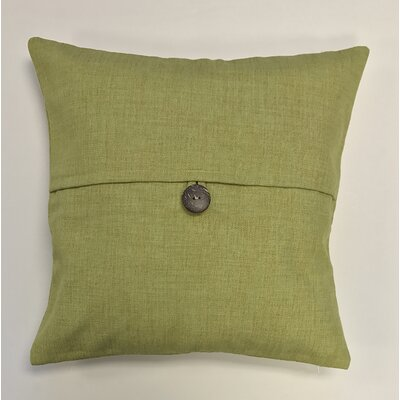 Pineda Button Woven Decorative Pillow Cover Color: Mustard