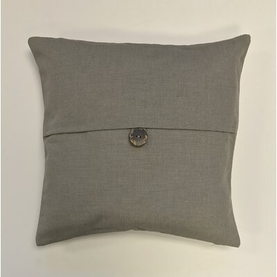 Pineda Button Woven Decorative Pillow Cover Color: Stone