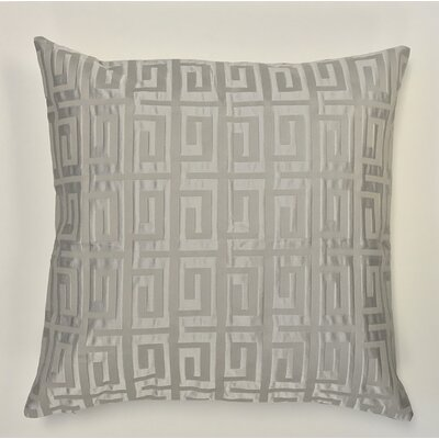 Roles Crystal Woven Decorative Pillow Cover Color: Grey