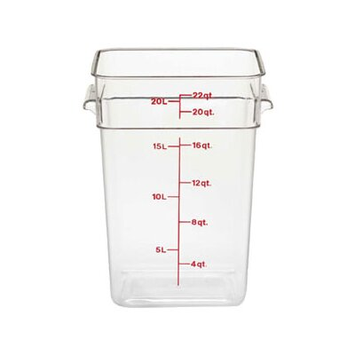 CamSquare 2816 Oz. Food Container Color: Clear