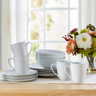 Tillman 16 Piece Porcelain Dinnerware Set, Service for 4