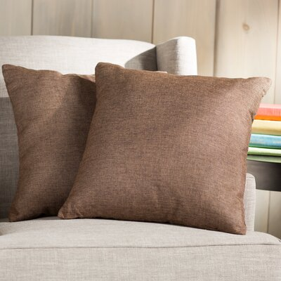 Wayfair Basics Throw Pillow Color: Brown