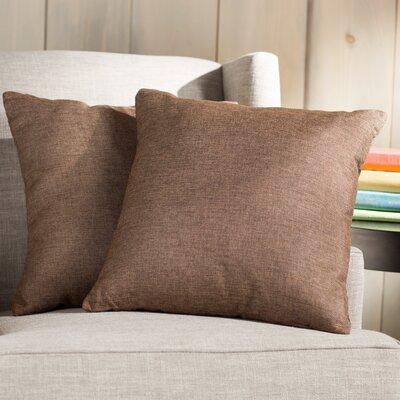 Wayfair Basics 18 Throw Pillow Color: Brown