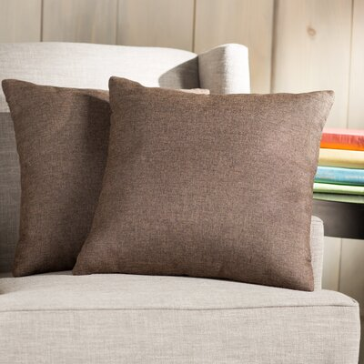 Wayfair Basics Throw Pillow Color: Dark Brown